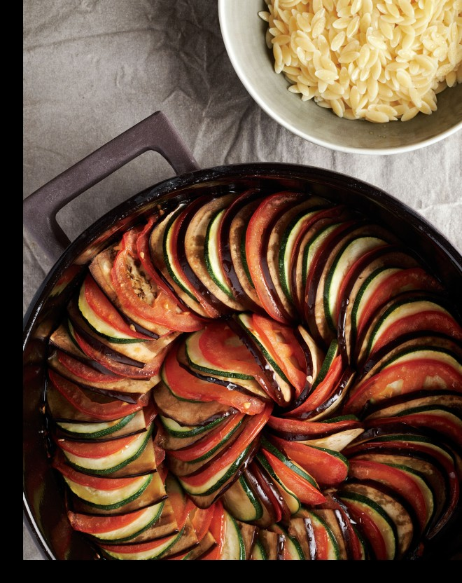 Roasted Ratatouille with Orzo