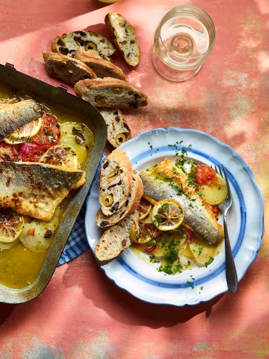 105_ainsley_Mediterranean_Seabass_Potato_Bake