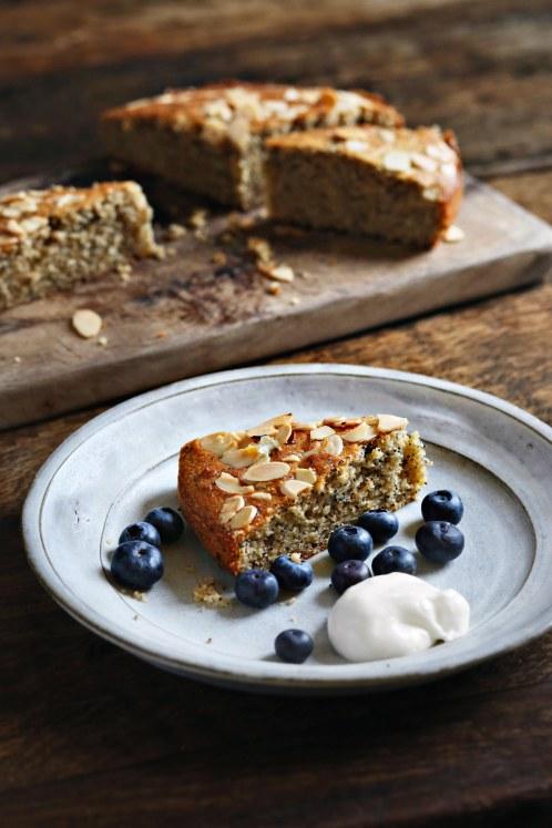 Seedy almond cake