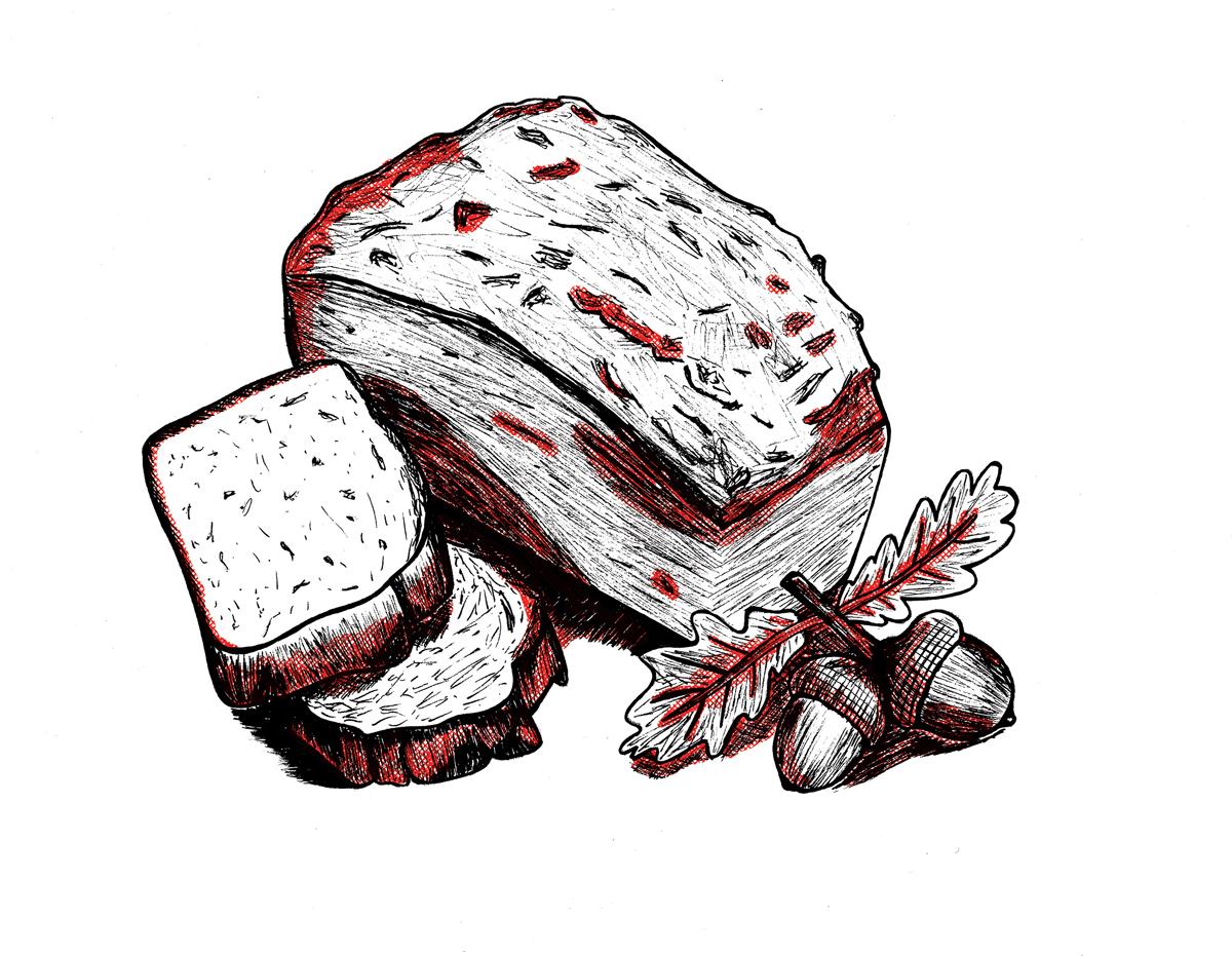 Frankenstein acorn bread image